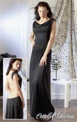 Fekete ruha láncokkal M