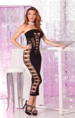 Big Spender seamless long dress: Black