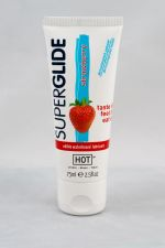 HOT Superglide edible lubricant waterbased - STRAWBERRY - 75