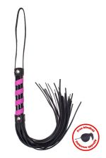 Whip black_pink leather with blindfold