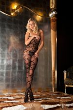 Strapped Up Sheer Bodystocking O/S